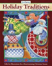 Jim Shore Holiday Traditions Coloring Book