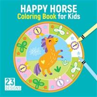Horse Mandalas Coloring Book for Kids