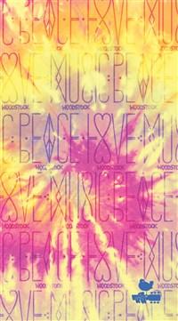 Woodstock Dot Journal Peace, Love, Music
