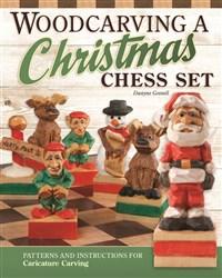 Woodcarving a Christmas Chess Set