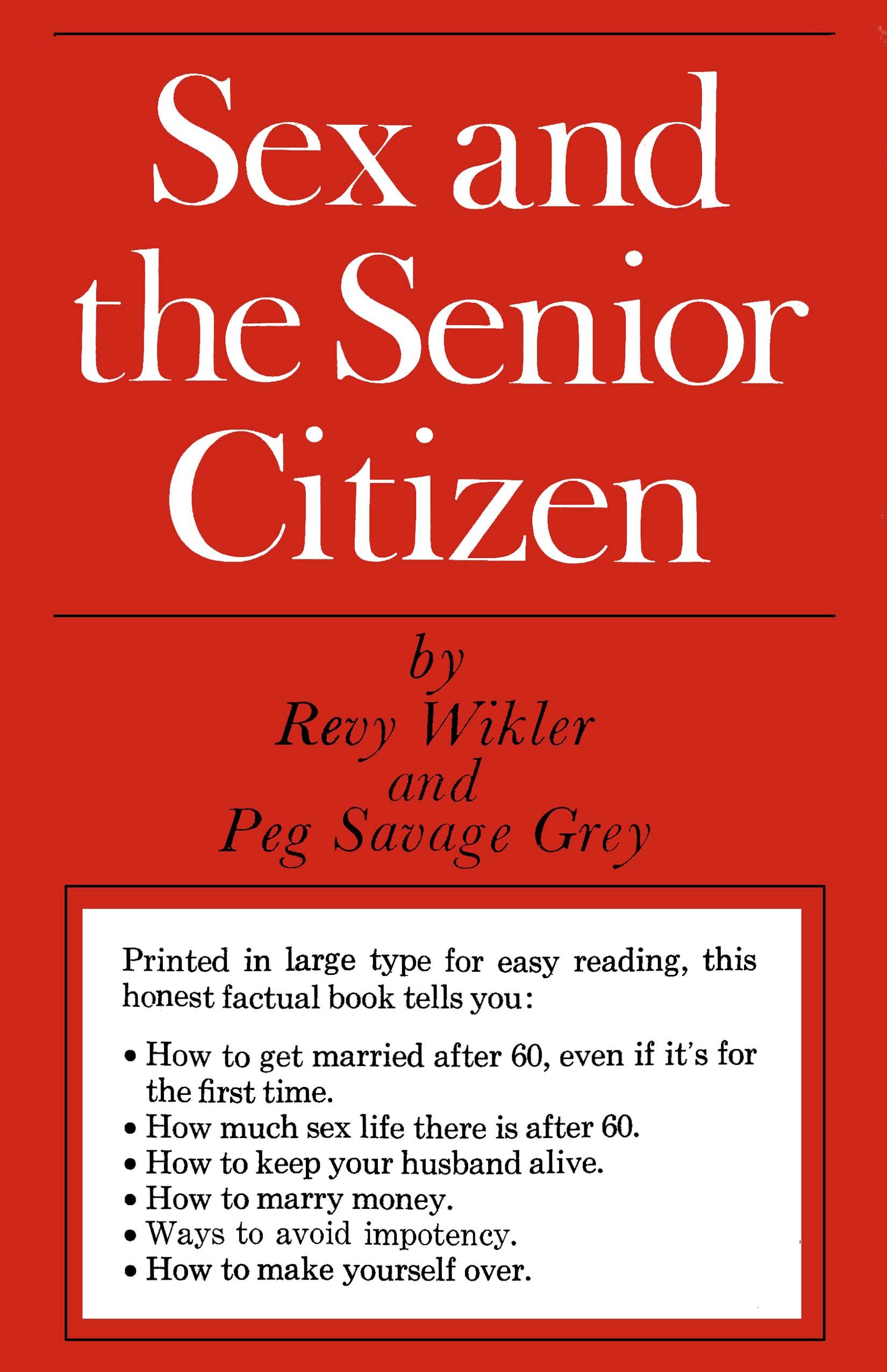 Sex and the Senior Citizen