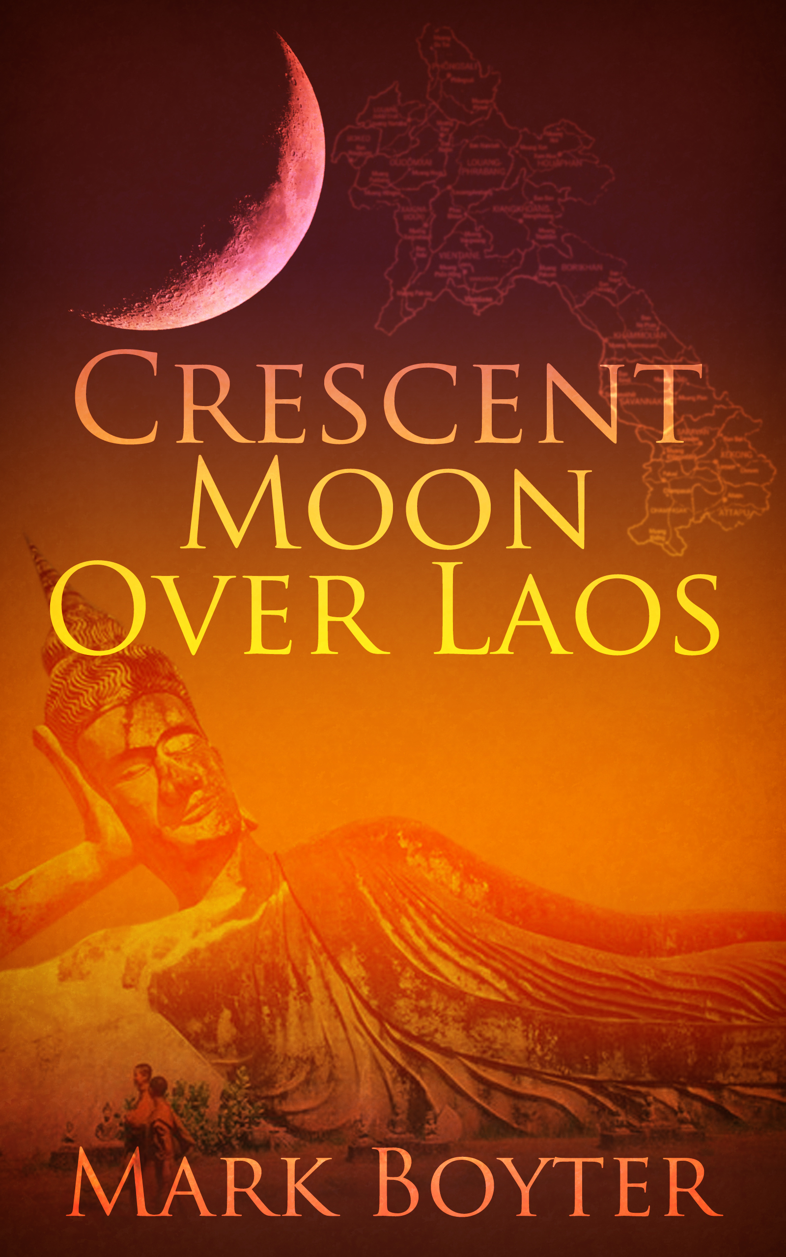 Crescent Moon Over Laos