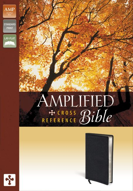 Amplified Cross-Reference Bible, Bonded Leather, Black