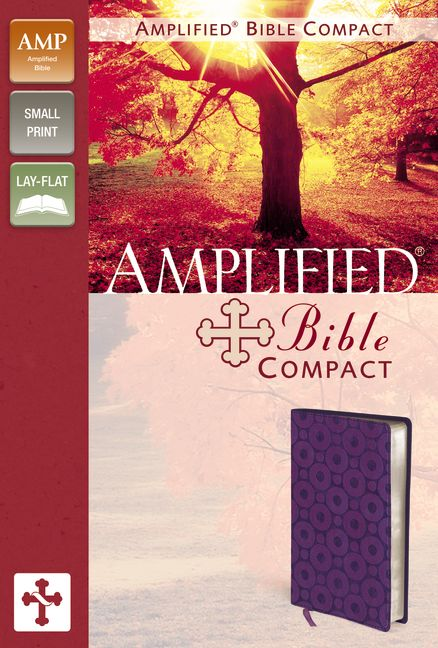 Amplified Bible, Compact, Imitation Leather, Purple