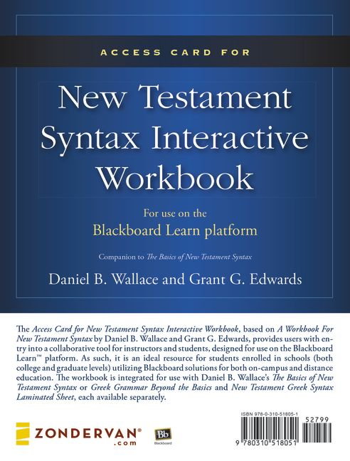 Access Card for New Testament Syntax Interactive Workbook - MBS Textbook Exchange