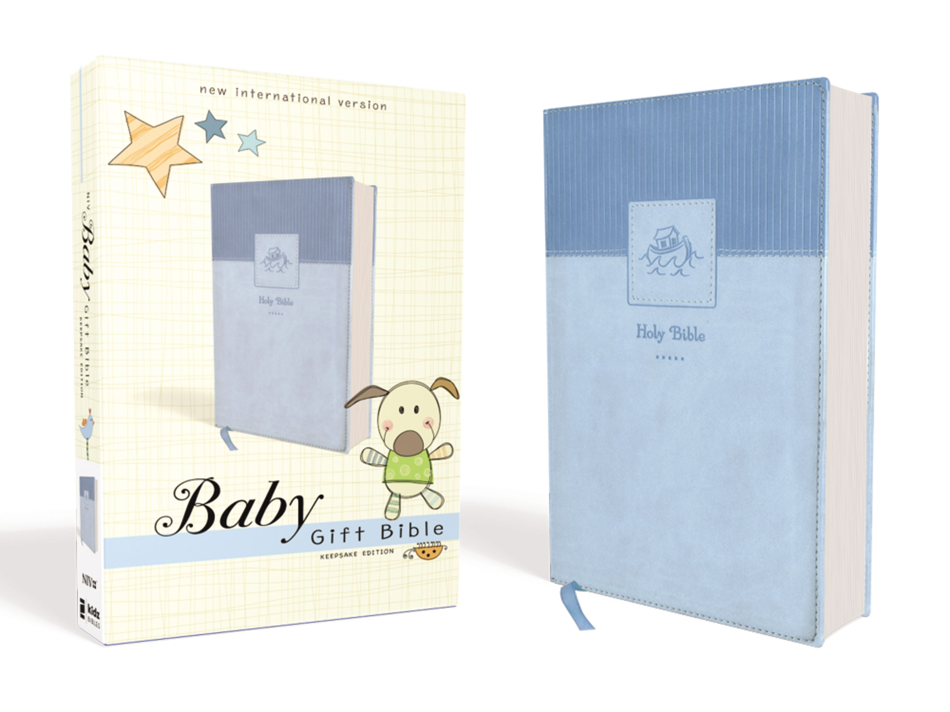 NIV Baby Gift Bible Holy Leathersoft Blue Red Letter Edition