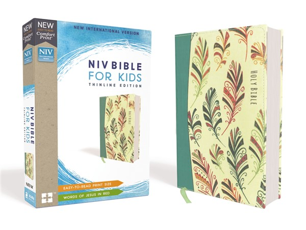 NIV Bible For Kids Flexcover Teal Red Letter Edition Comfort Print