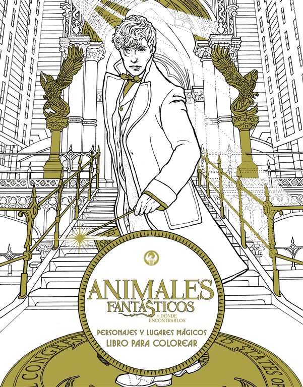Animales fantásticos y dónde encontrarlos: Personajes y lugares mágicos. Libro para colorear