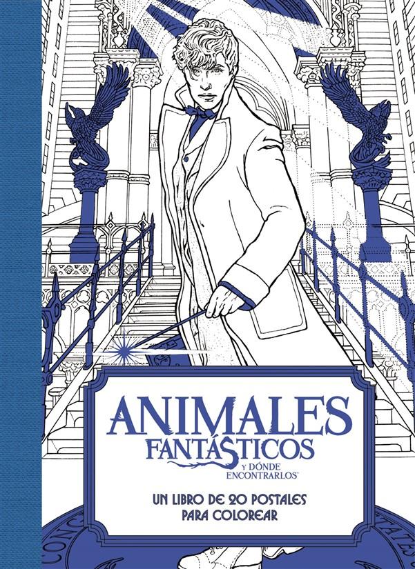 Animales fantásticos y dónde encontrarlos: Un libro de 20 postales para colorear
