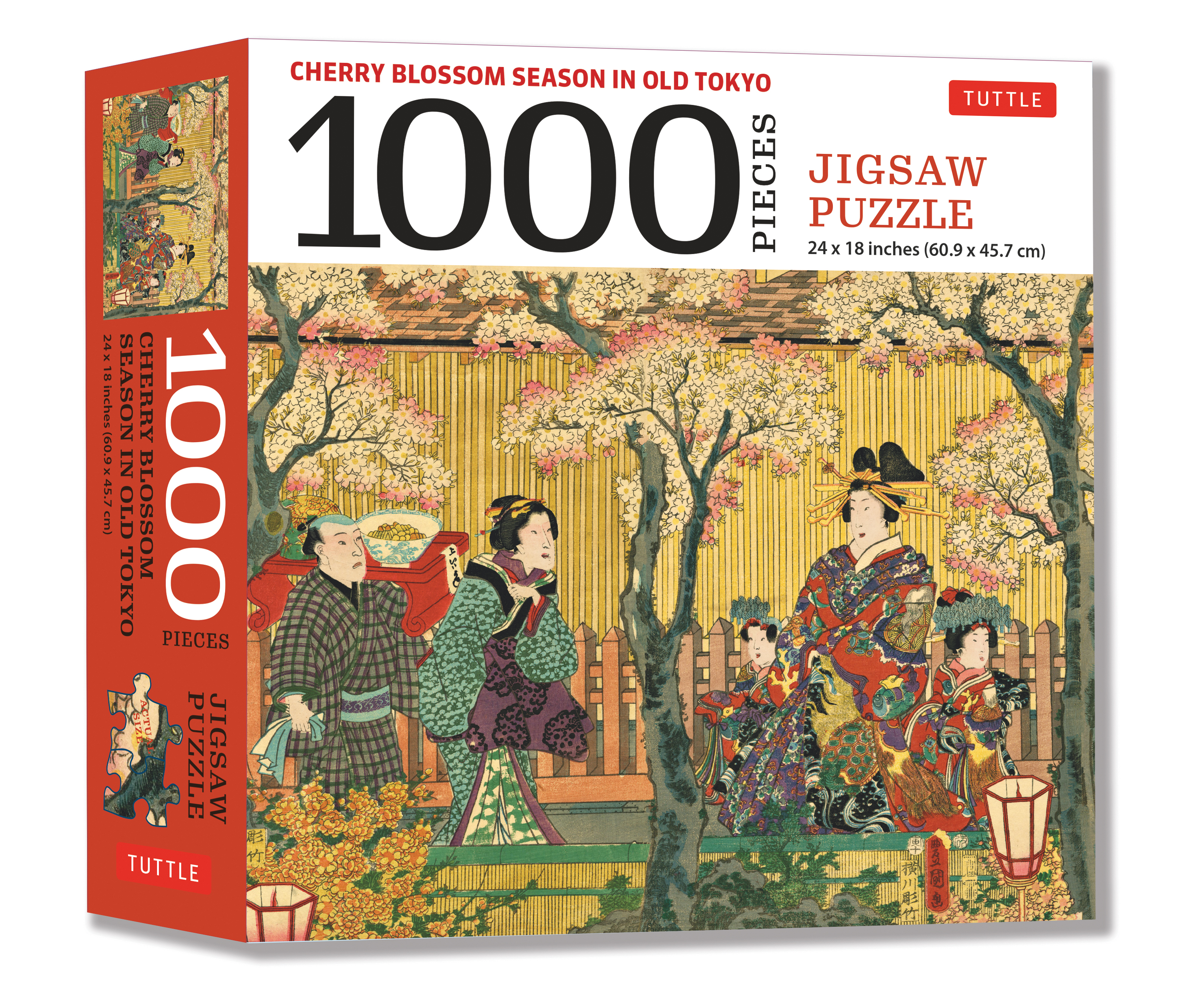 Cherry Blossom Season in Old Tokyo Jigsaw Puzzle 1,000 piece