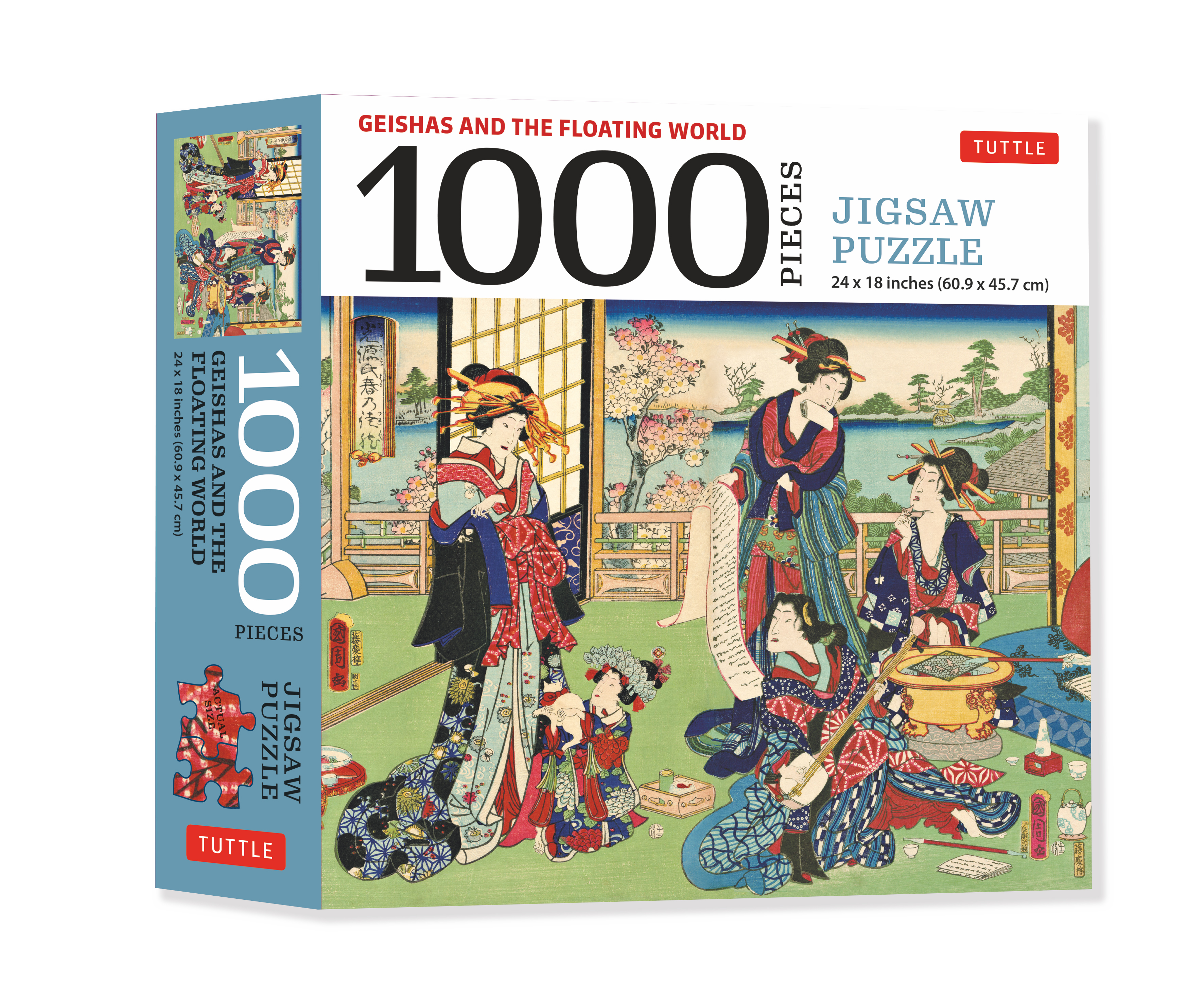 A Geishas and the Floating World - 1000 Piece Jigsaw Puzzle