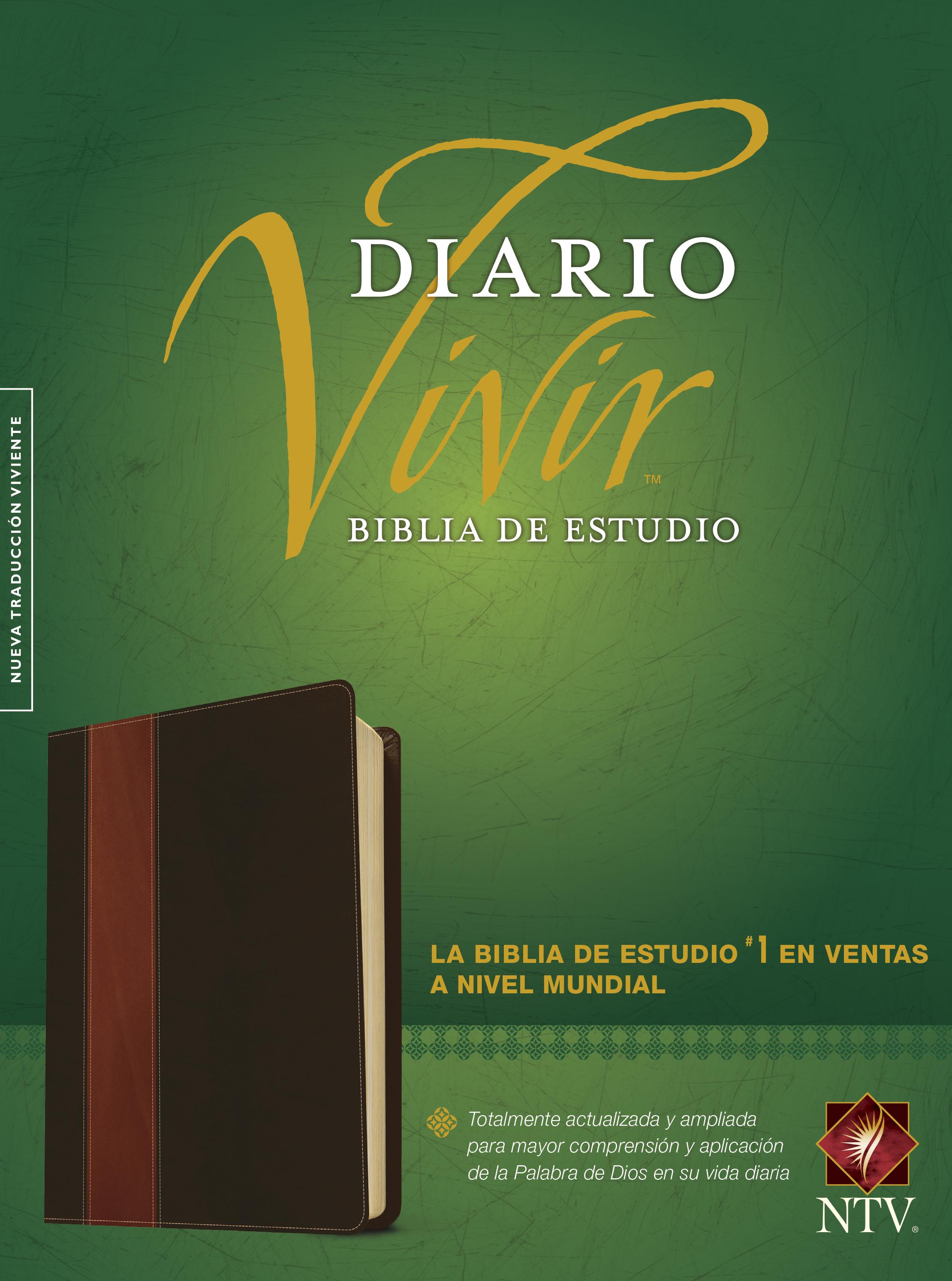 Biblia de estudio del diario vivir NTV (Letra Roja, SentiPiel, Café/Café claro, Índice)