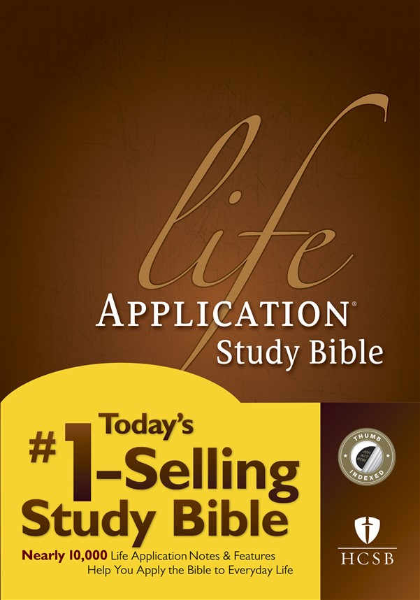 HCSB Life Application Study Bible, Second Edition (Red Letter, Hardcover, Indexed)