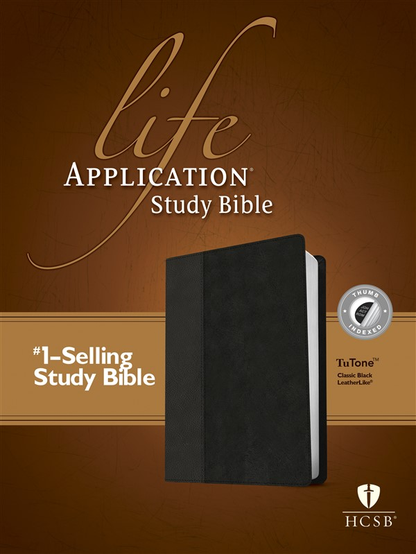 HCSB Life Application Study Bible, Second Edition, TuTone (Red Letter, LeatherLike, Classic Black, Indexed)