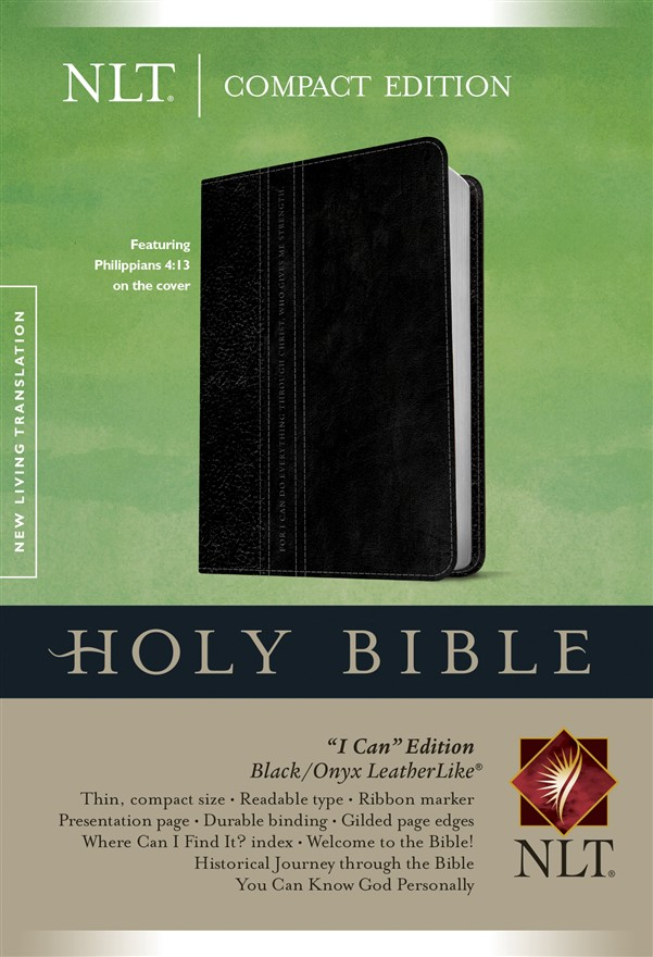 Compact Edition Bible NLT, TuTone (LeatherLike, Black/Onyx)