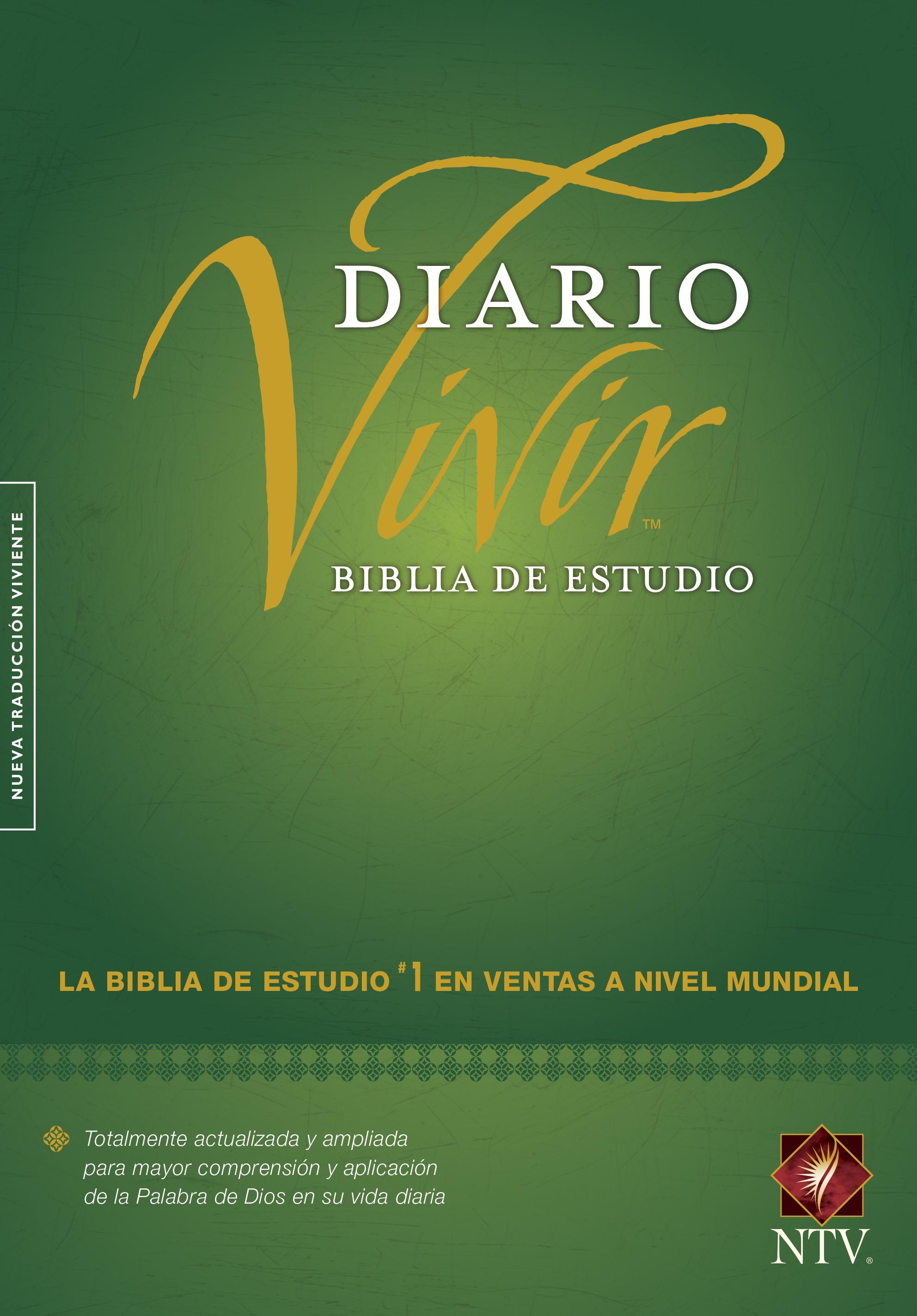 Biblia de estudio del diario vivir NTV (Letra Roja, Tapa dura, Verde, Índice)