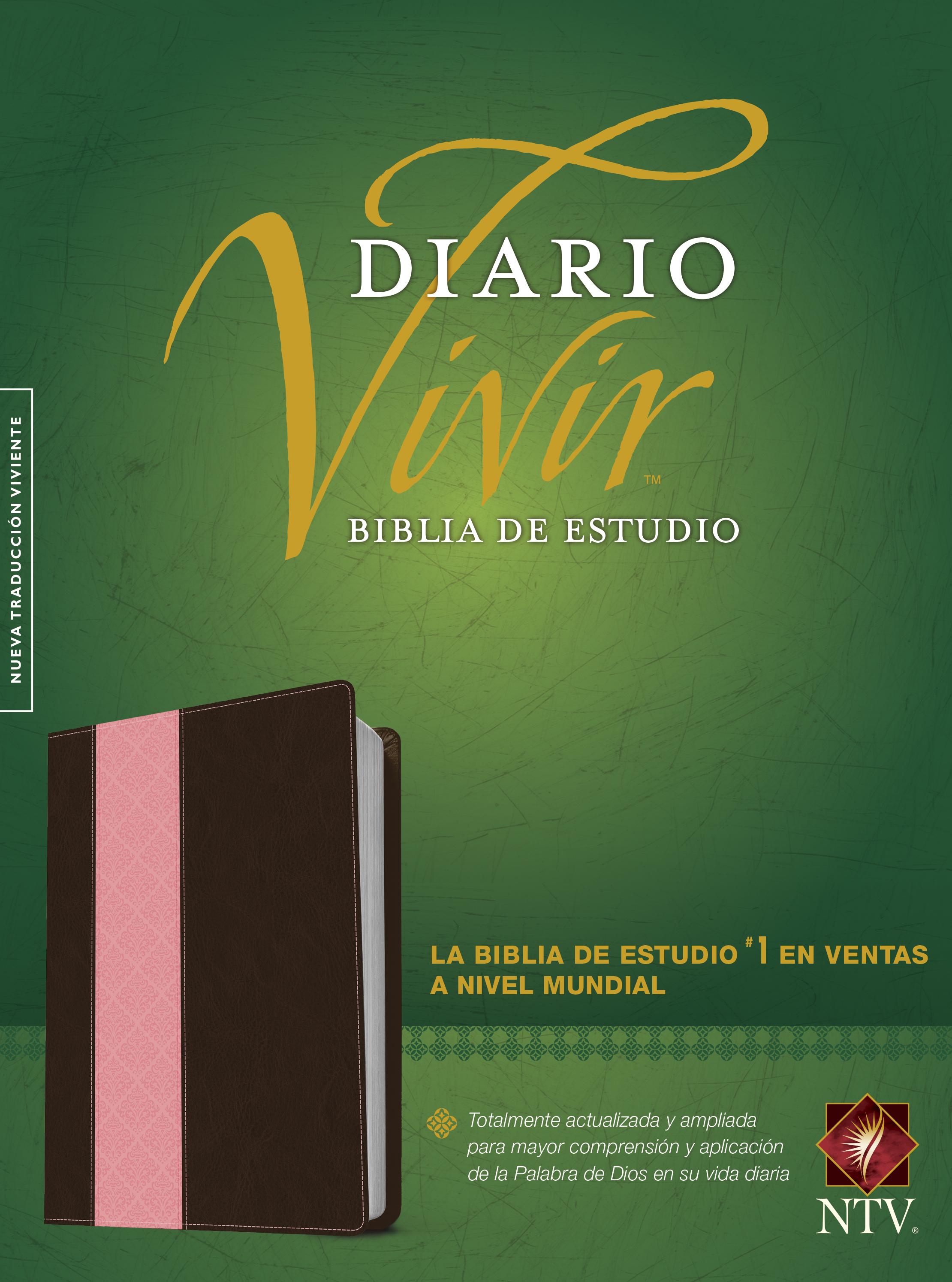 Biblia de estudio del diario vivir NTV (Letra Roja, SentiPiel, Café/Rosa, Índice)