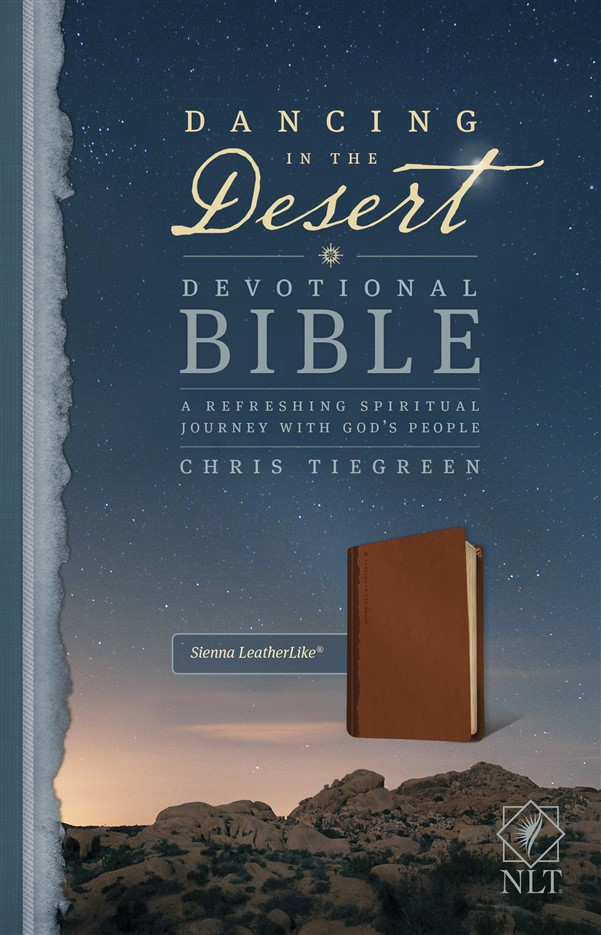 Dancing in the Desert Devotional Bible NLT (LeatherLike, Sienna)