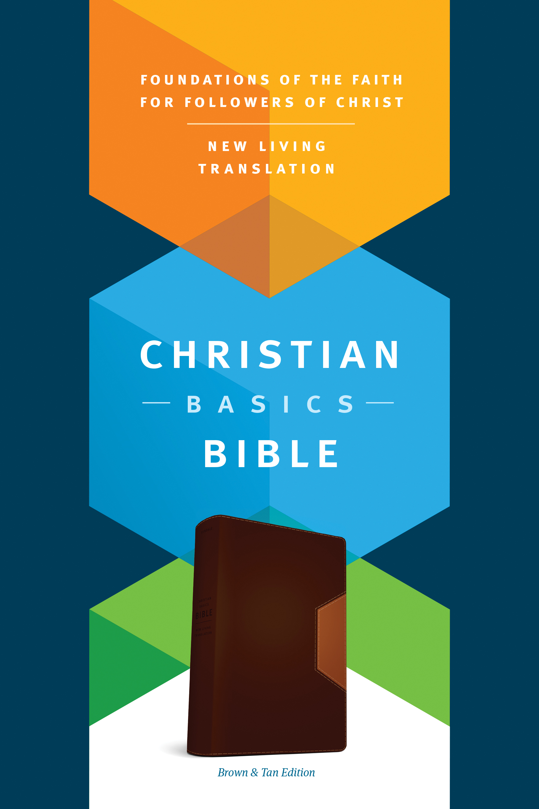 Christian Basics Bible NLT, TuTone (LeatherLike, Brown/Tan)