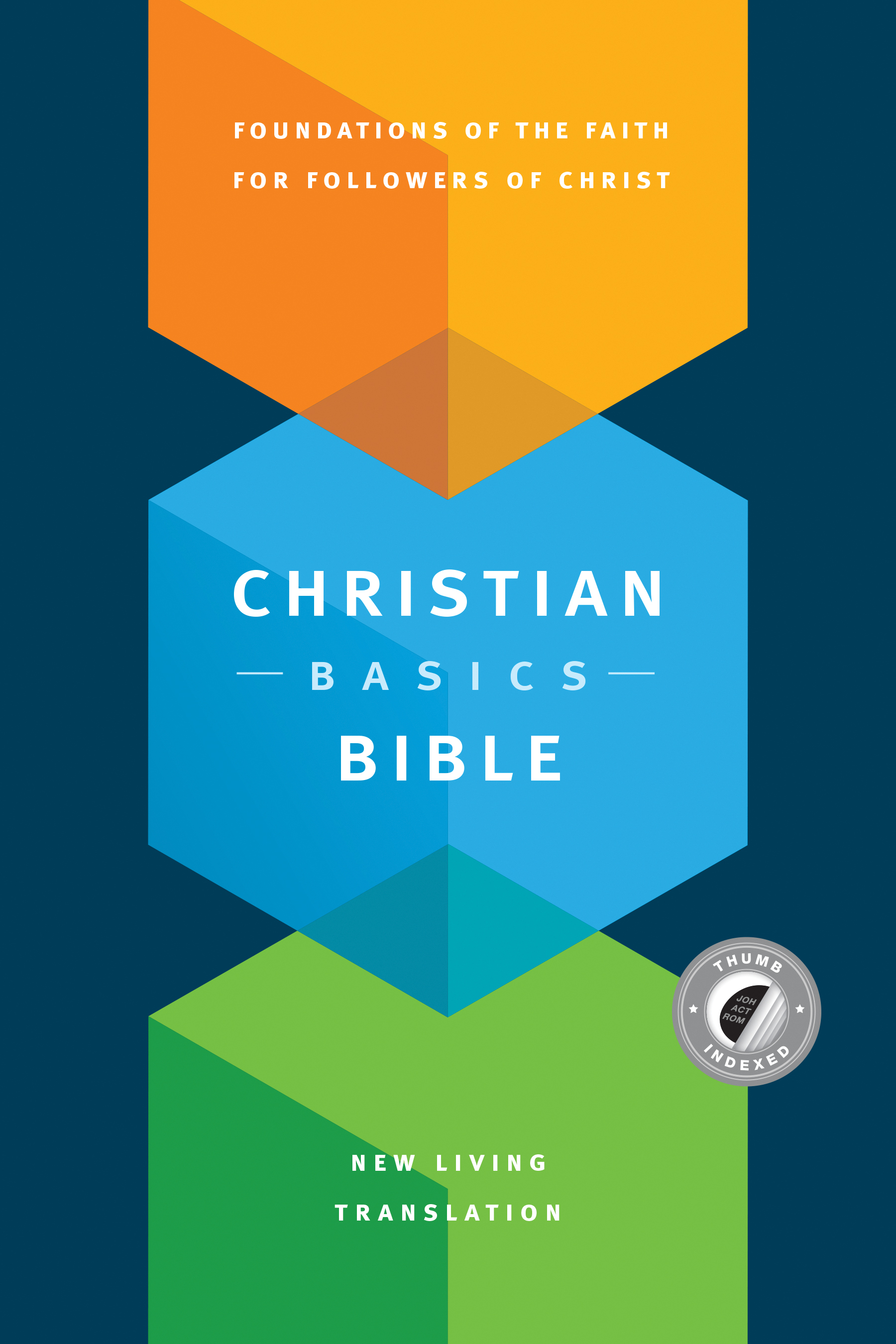 Christian Basics Bible NLT (Hardcover, Indexed)