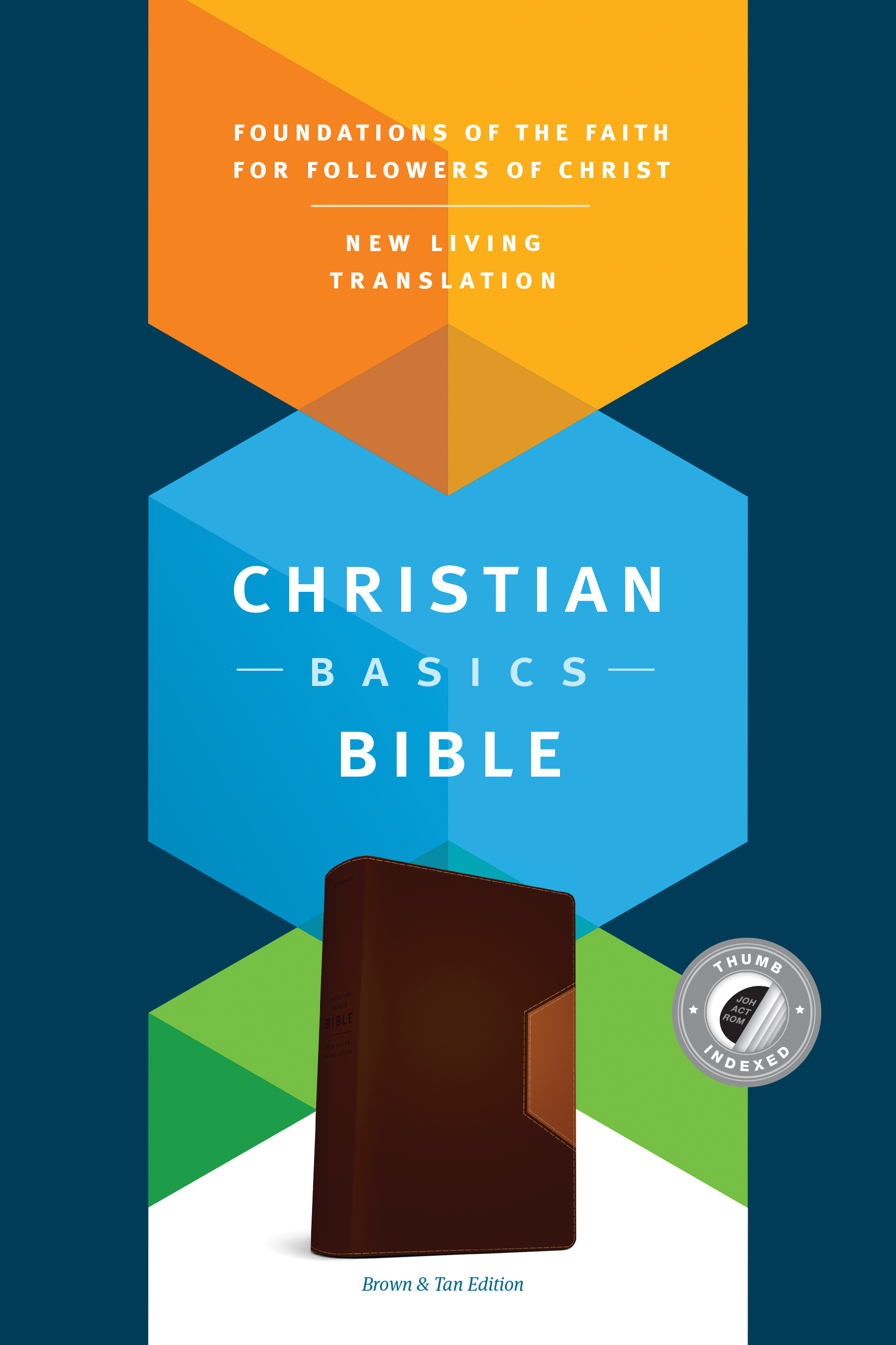 Christian Basics Bible NLT, TuTone (LeatherLike, Brown/Tan, Indexed)