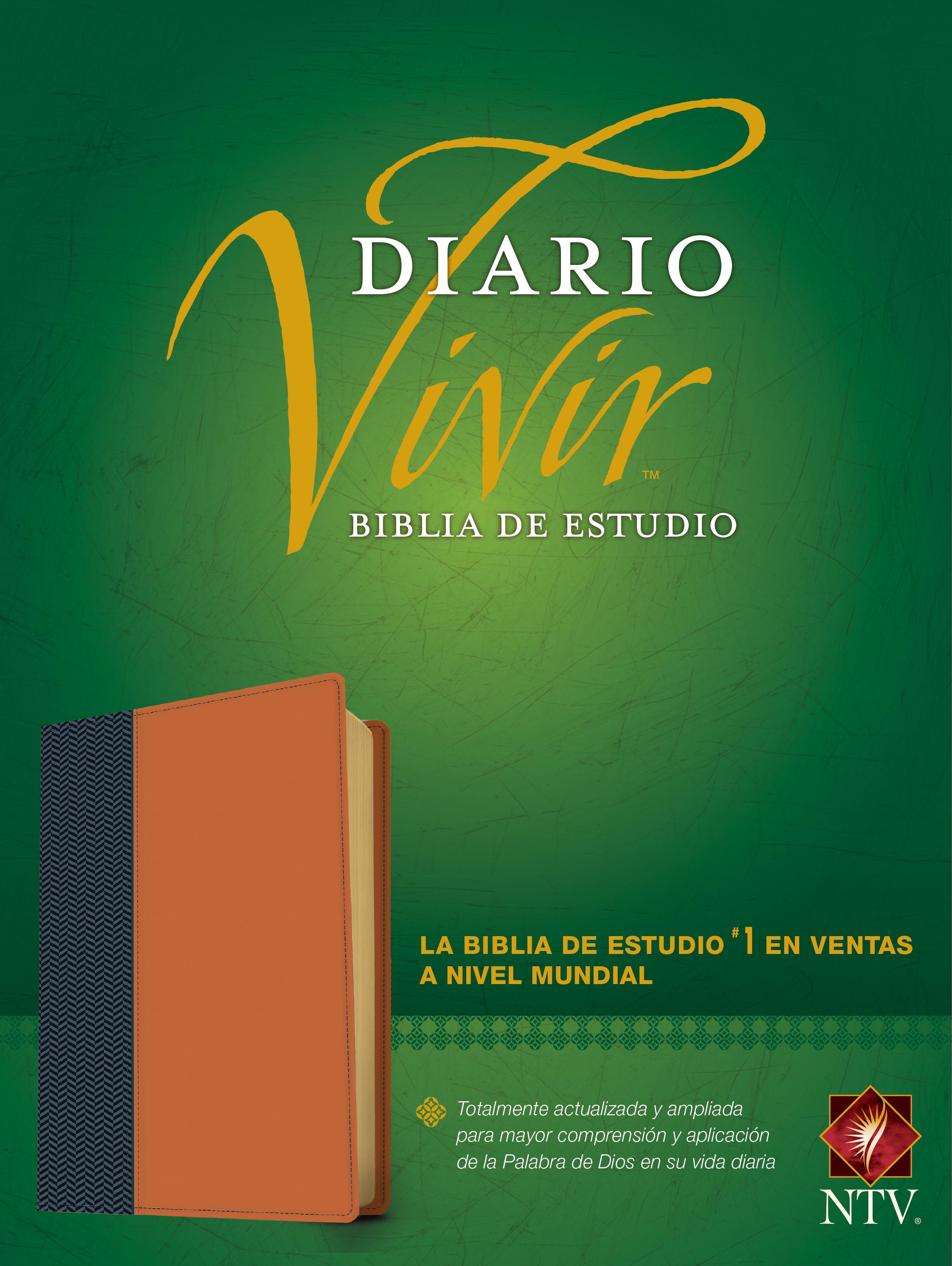 Biblia de estudio del diario vivir NTV (Letra Roja, SentiPiel, Azul/Café claro)