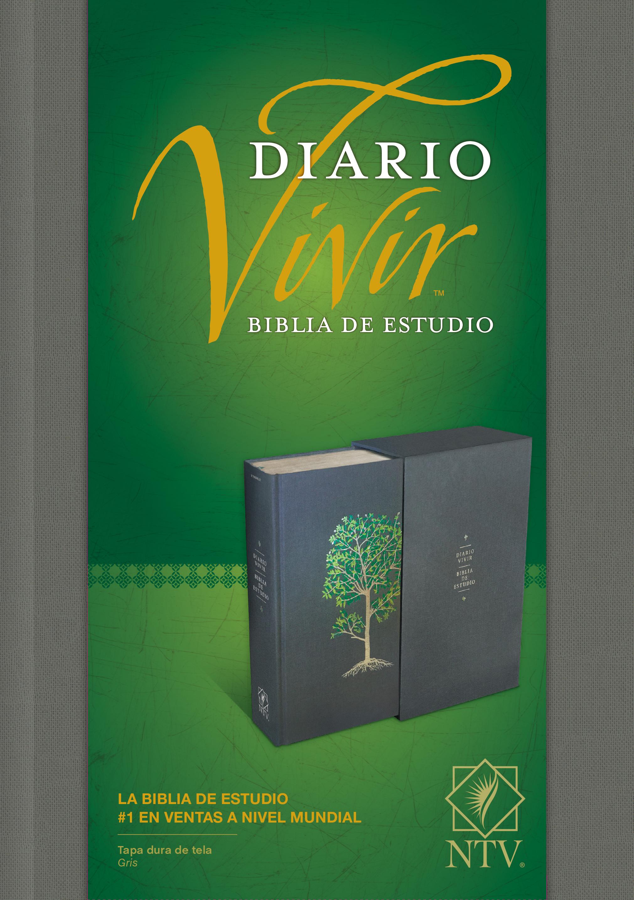 Biblia de estudio del diario vivir NTV (Letra Roja, Tapa dura de tela, Gris)