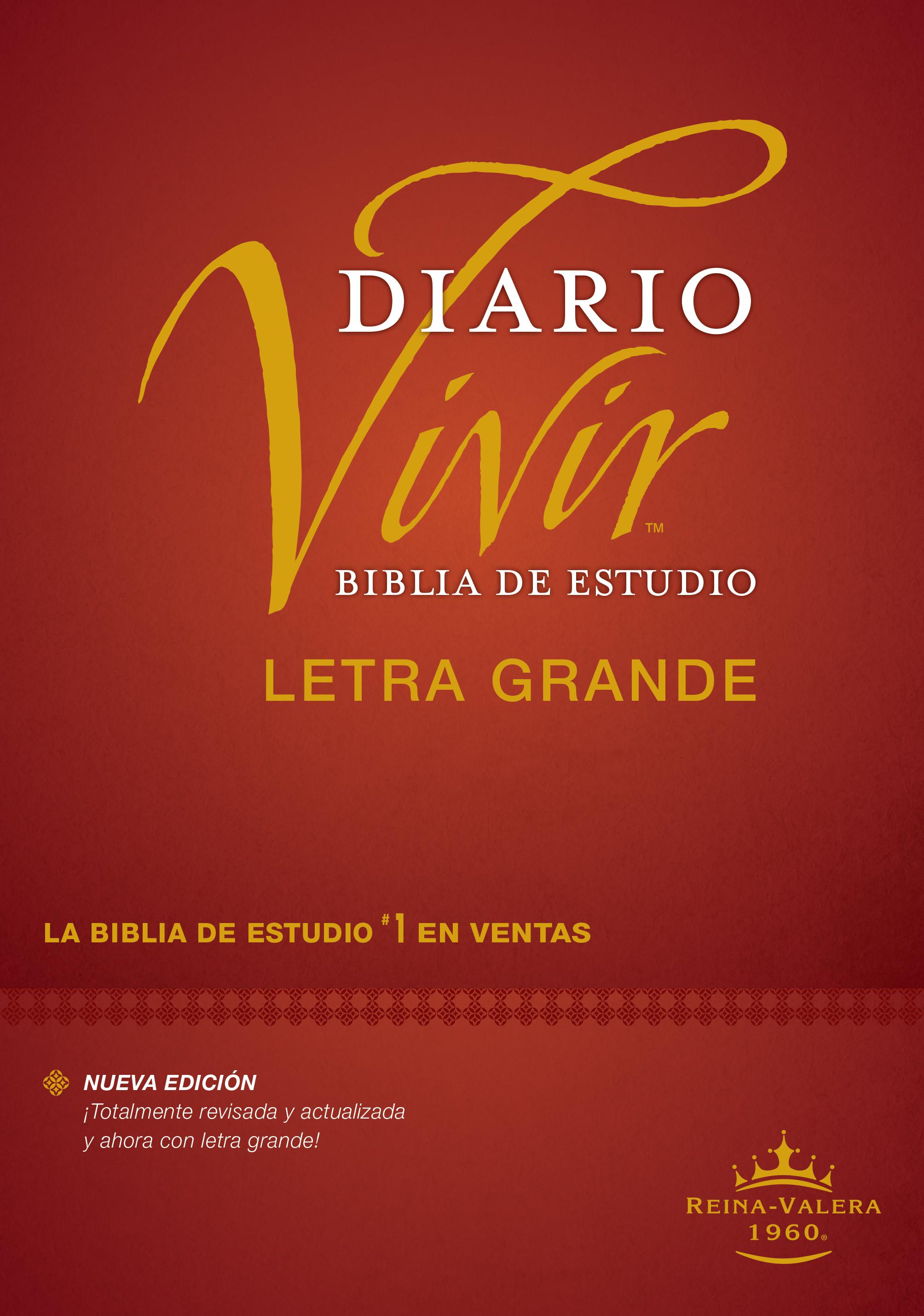 Biblia de estudio del diario vivir RVR60, letra grande (Letra Roja, Tapa dura, Índice)