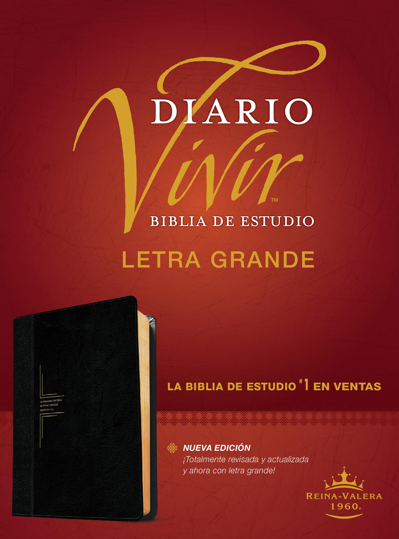 Biblia de estudio del diario vivir RVR60, letra grande (Letra Roja, SentiPiel, Negro/Ónice)