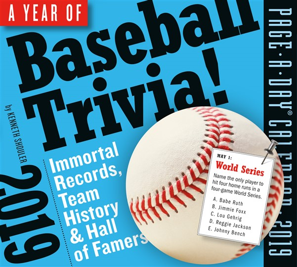 A Year of Baseball Trivia! Page-A-Day Calendar 2019