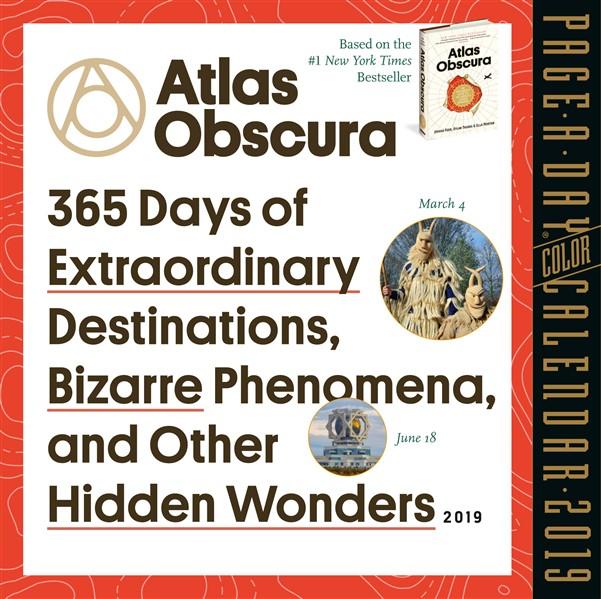 Atlas Obscura Page-A-Day Calendar 2019