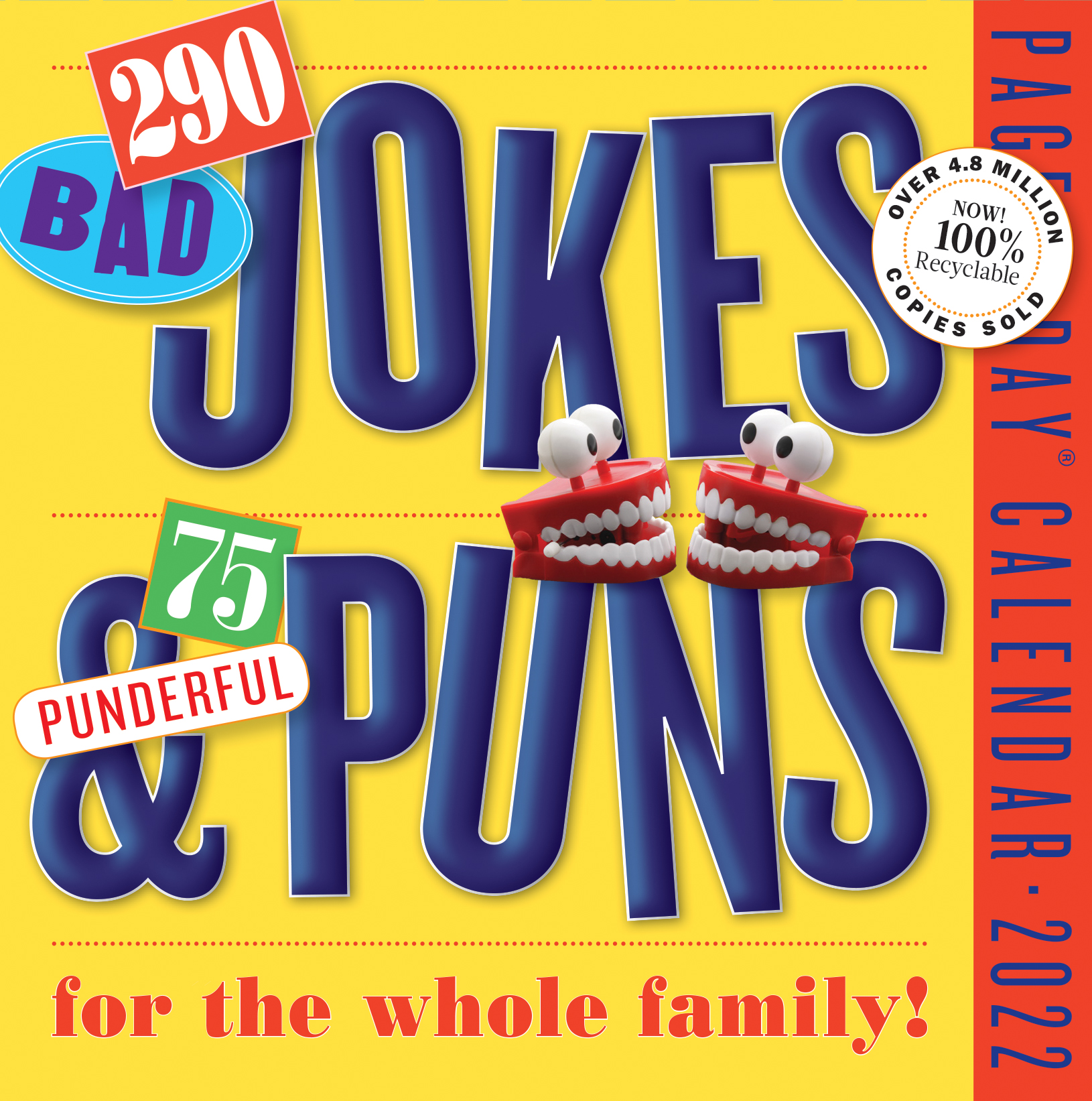 290 Bad Jokes & 75 Punderful Puns Page-A-Day Calendar 2022