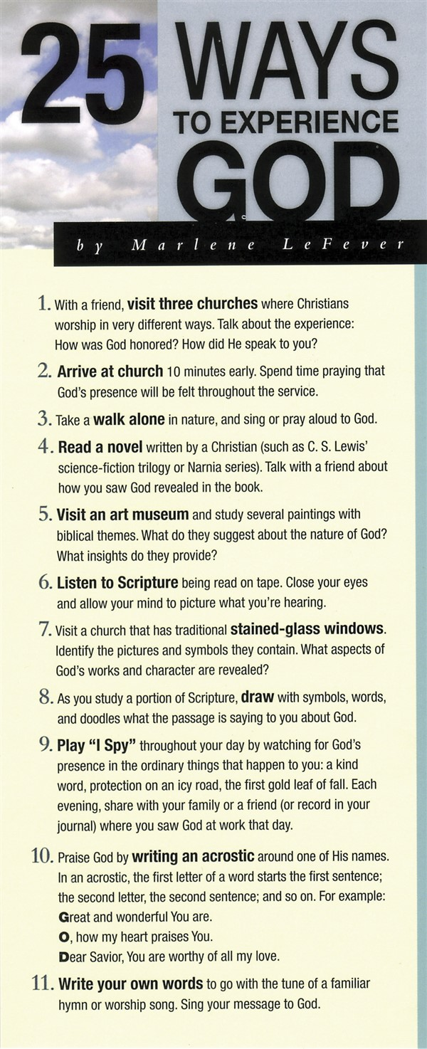 25 Ways to Experience God 50-pack