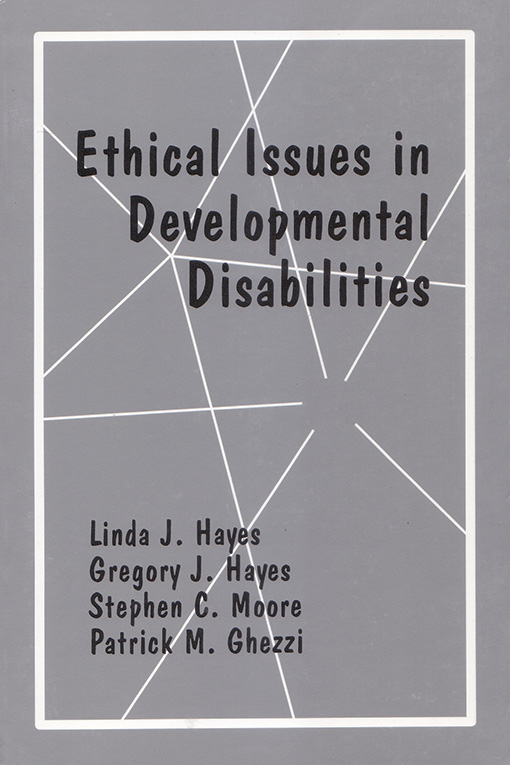 Ethical Issues in Developmental Disabilities