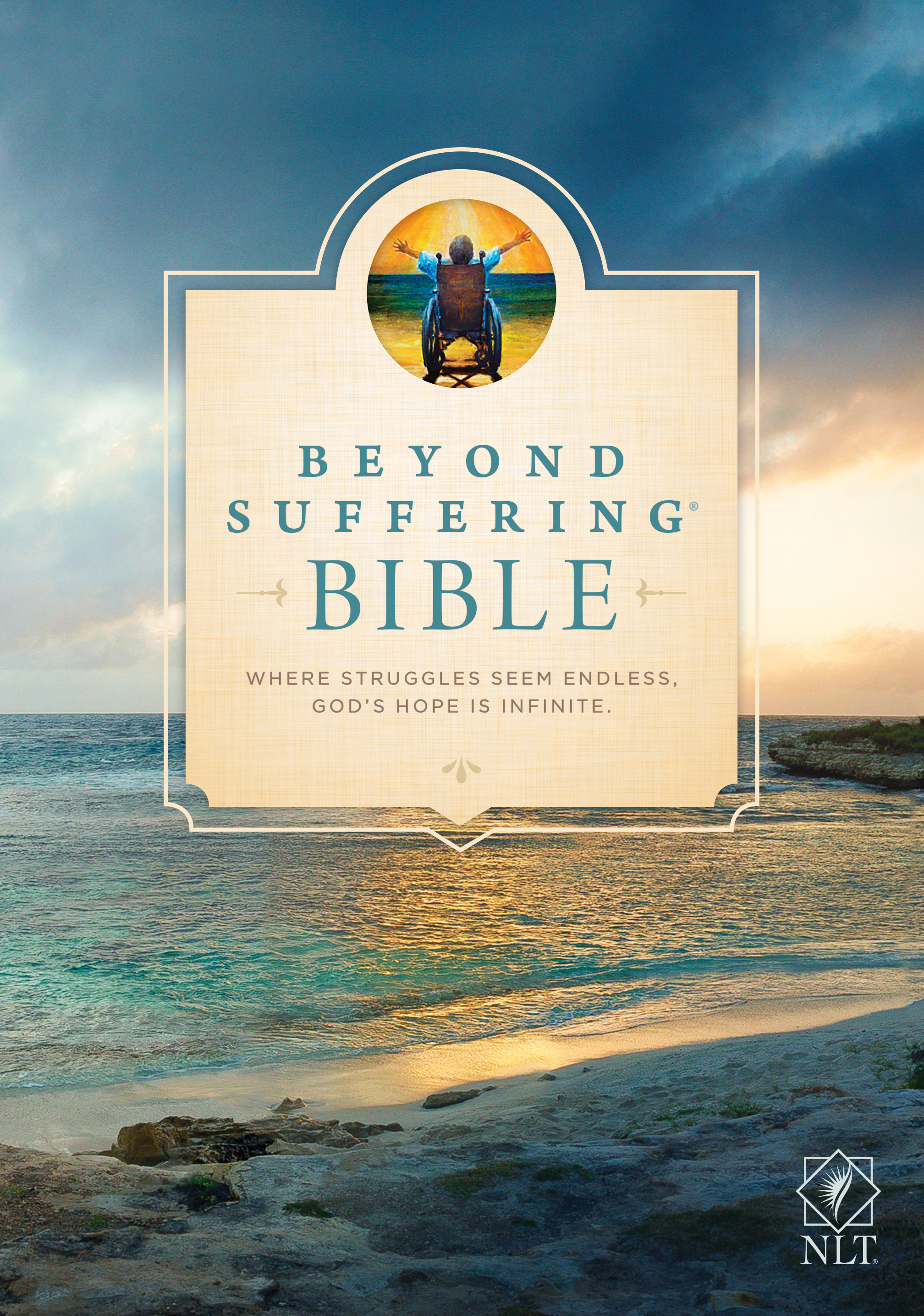 Beyond Suffering Bible NLT (Hardcover)