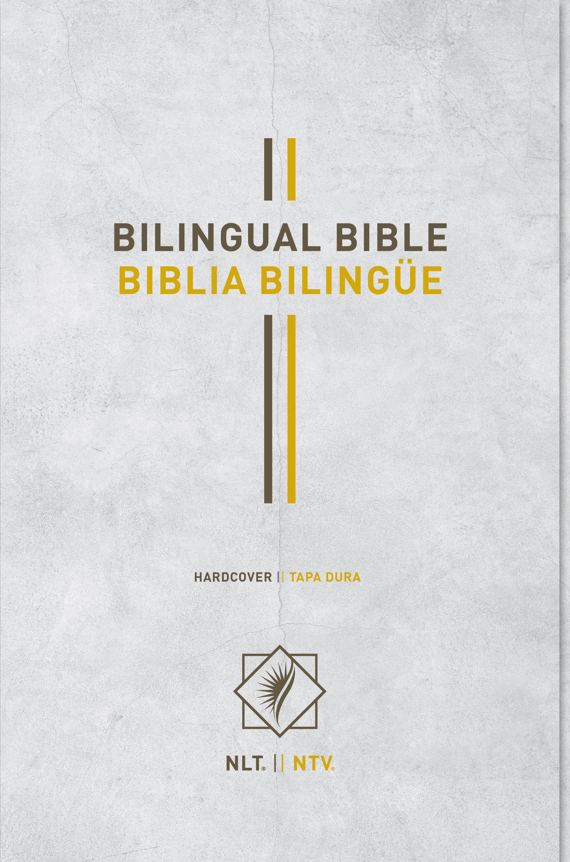 Bilingual Bible / Biblia bilingüe NLT/NTV (Hardcover, Gray)