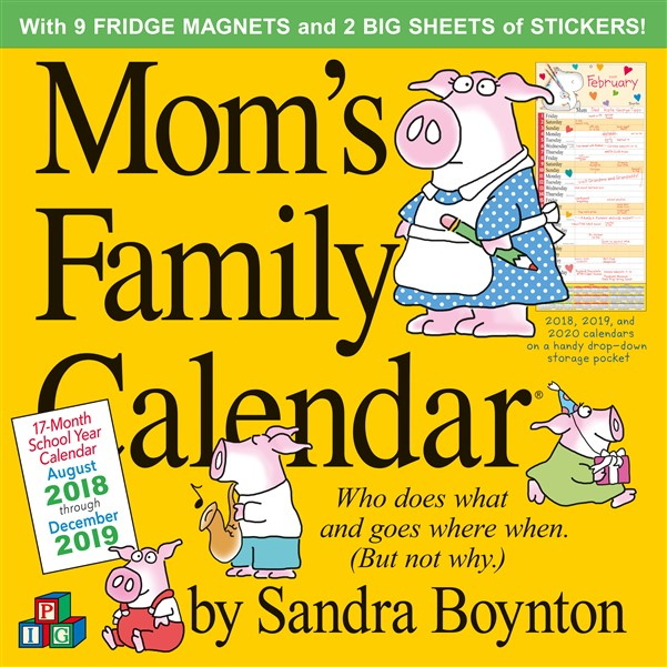 Mom\'s Family Wall Calendar 2019. Nataraj Books