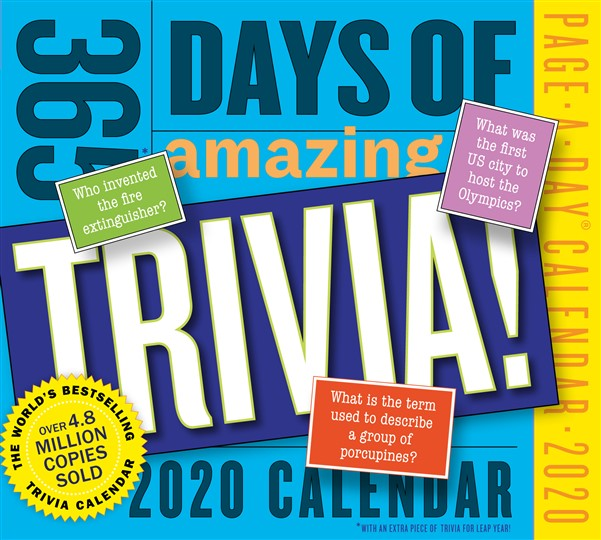 365 Days of Amazing Trivia! Page-A-Day Calendar 2020