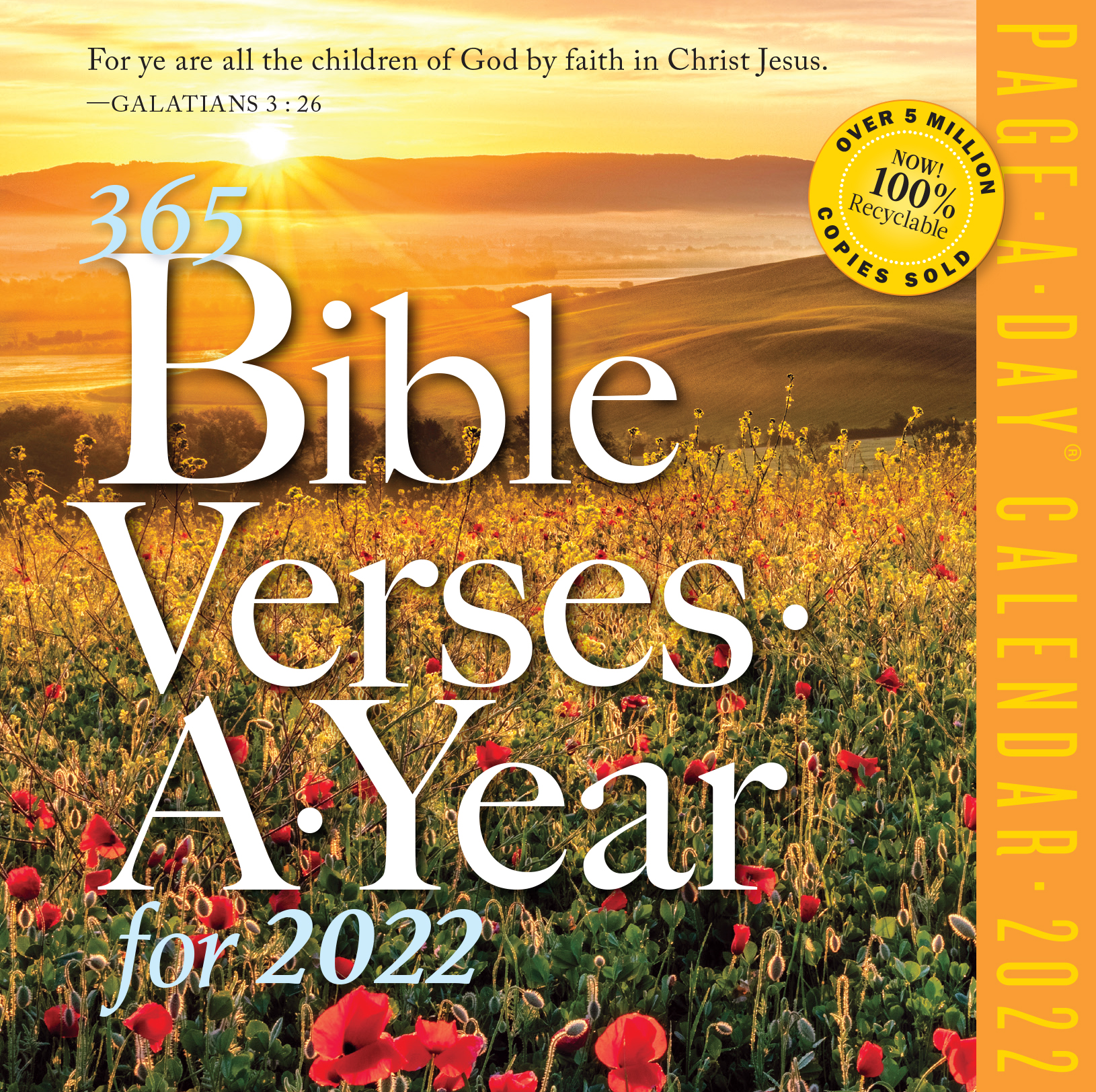 365 Bible Verses-A-Year Page-A-Day Calendar 2022
