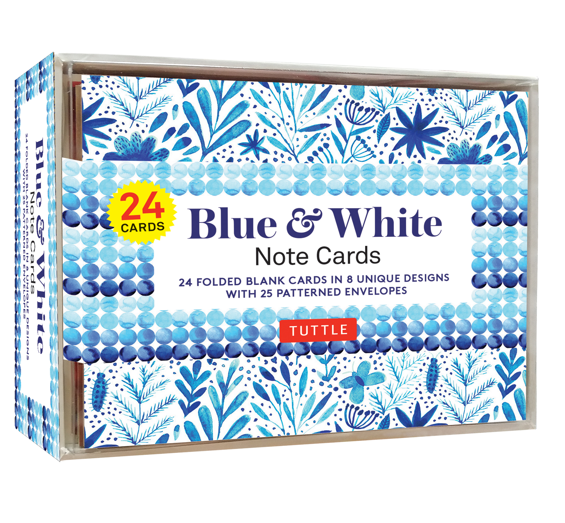 Blue & White Note Cards - 24 Cards