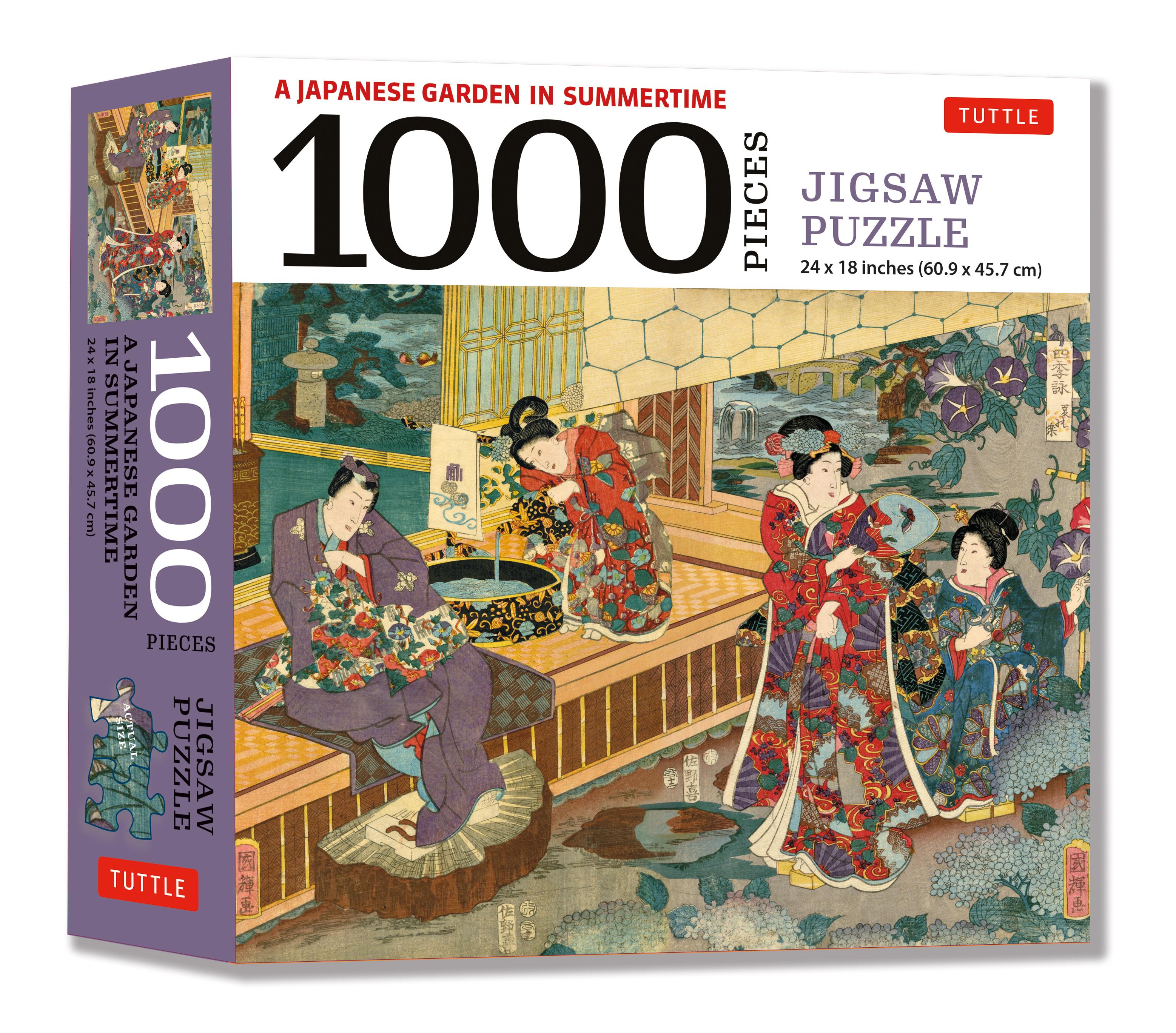 A Japanese Garden in Summertime - 1000 Piece Jigsaw Puzzle