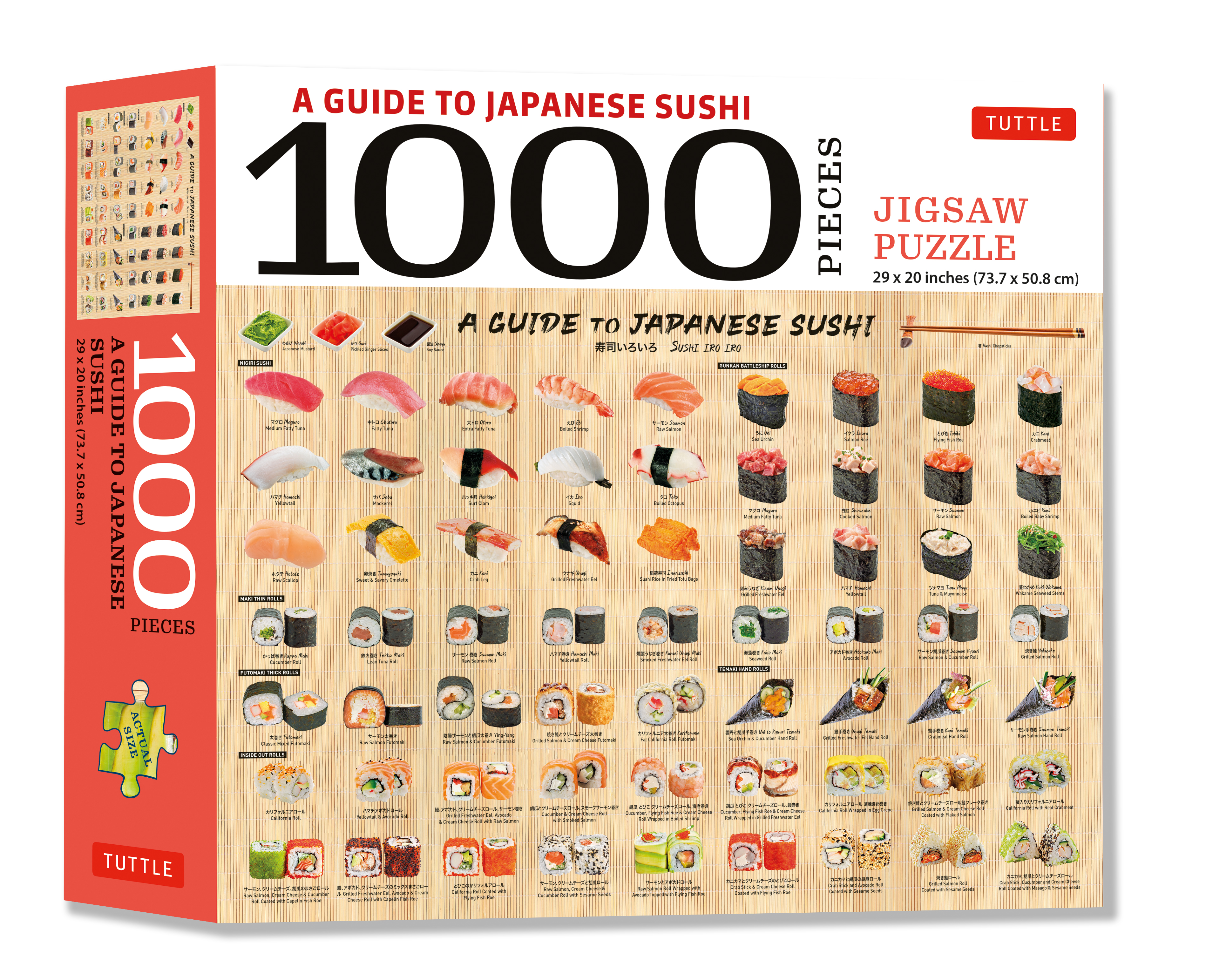 A Guide to Japanese Sushi - 1000 Piece Jigsaw Puzzle