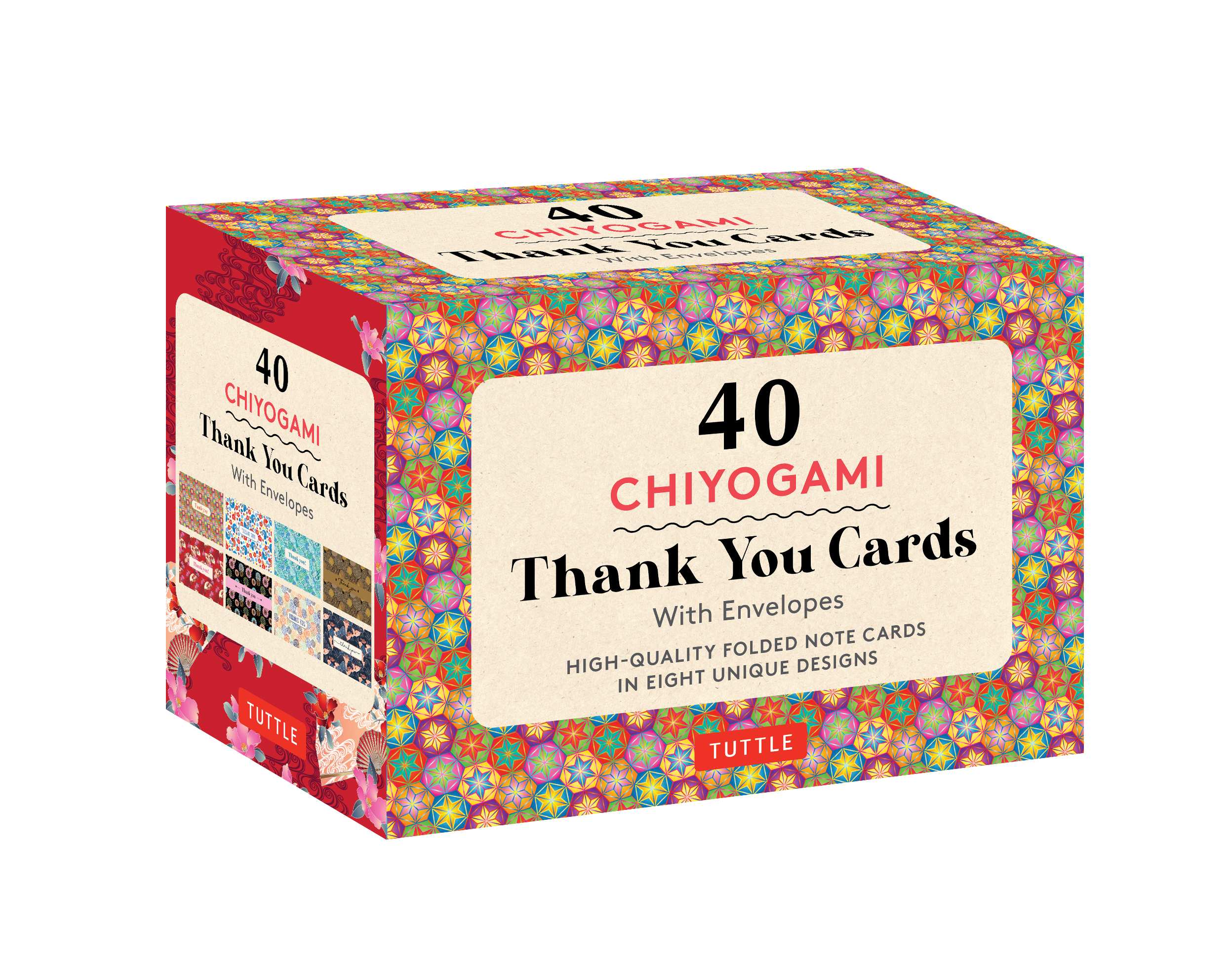 Chiyogami Designs 40 Thank You Cards with Envelopes