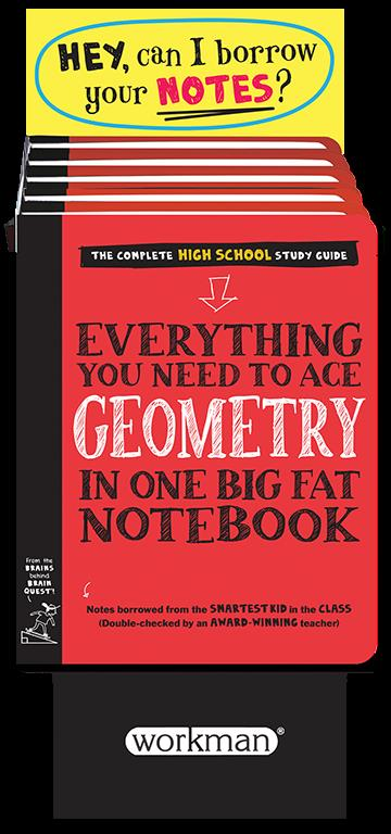6-copy counter display Everything You Need to Ace Geometry in One Big Fat Notebook