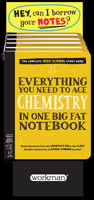 6-copy counter display Everything You Need to Ace Chemistry in One Big Fat Notebook