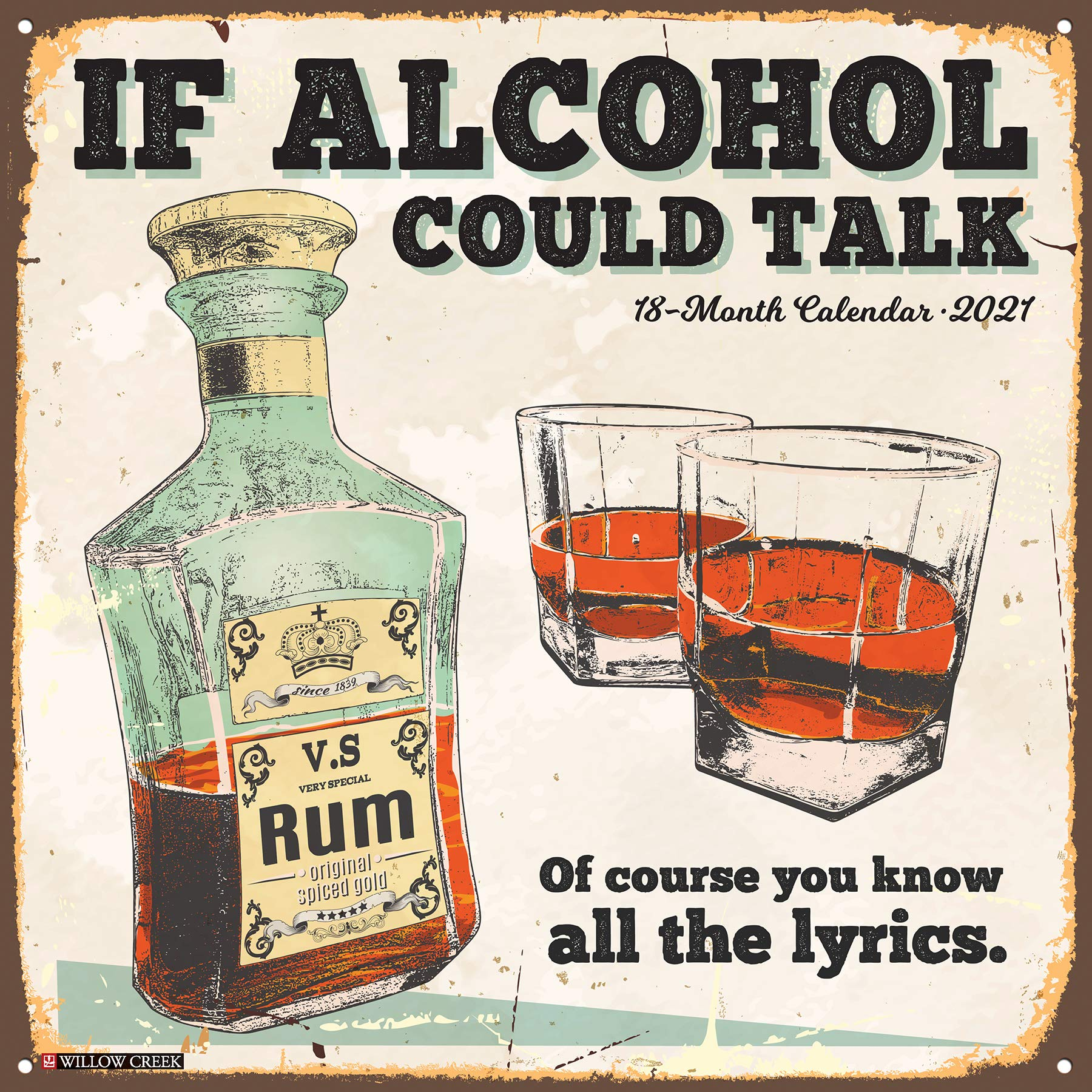 If Alcohol Could Talk 2021 Wall Calendar