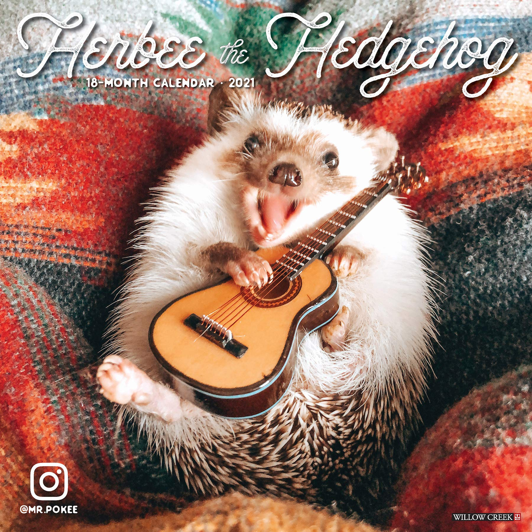 Herbee the Hedgehog 2021 Wall Calendar