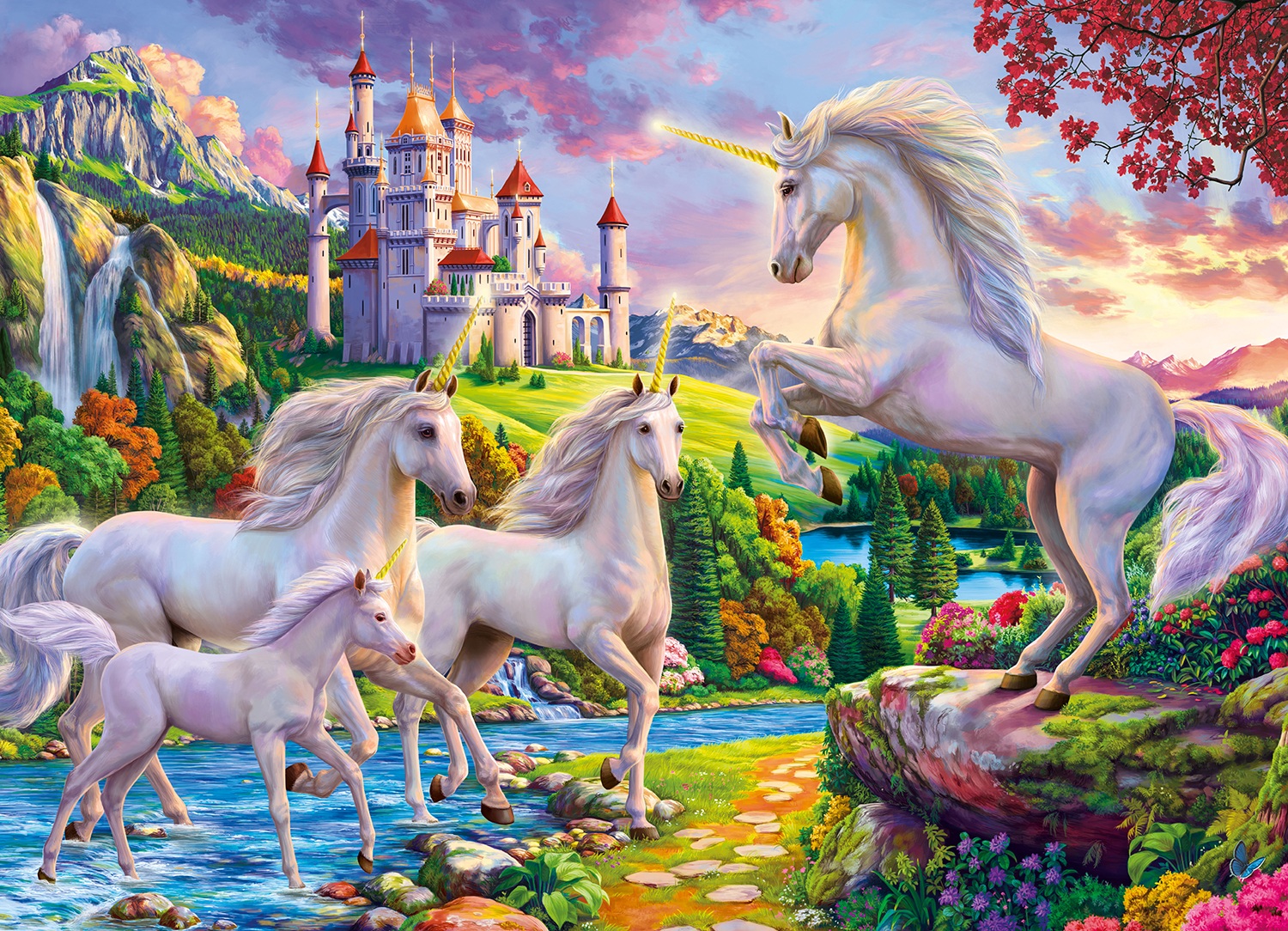 Unicorn & Castle 1000-Piece Puzzle