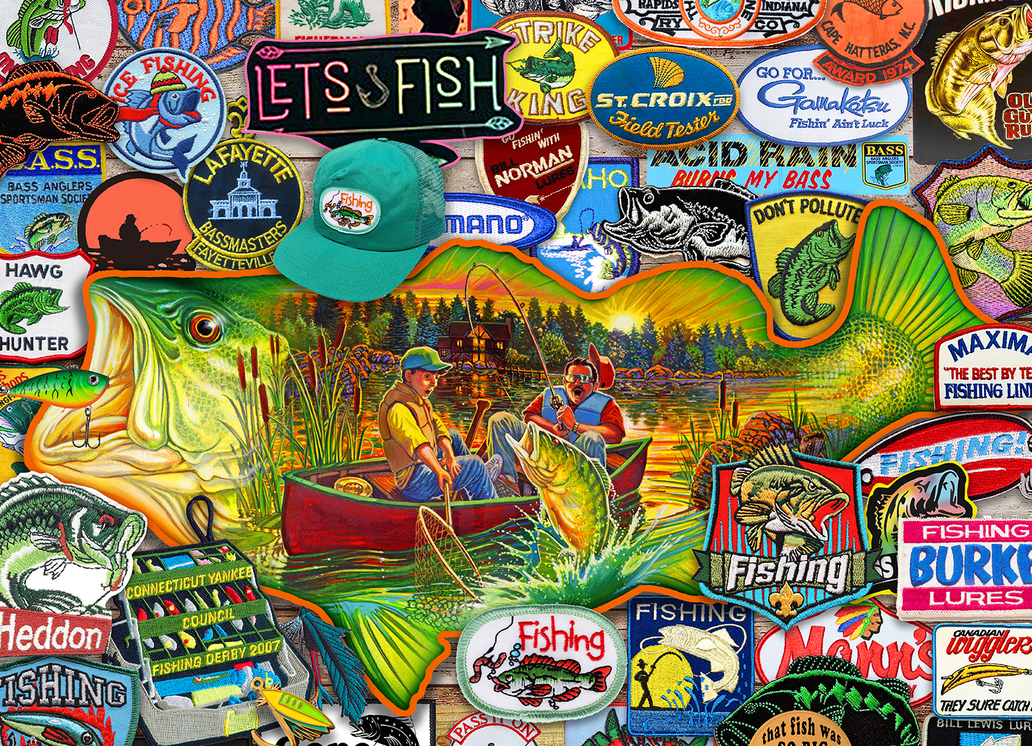 Let's Fish 1000-Piece Puzzle