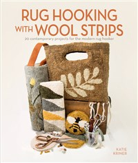 Rug Hooking with Wool Strips